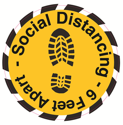 Floor Decals - Social Distancing